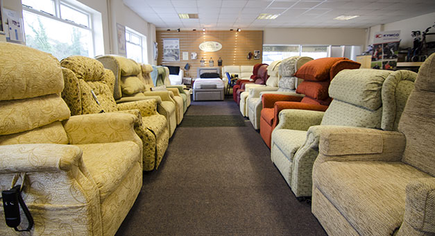Riser and recliner chairs showroom in Torquay